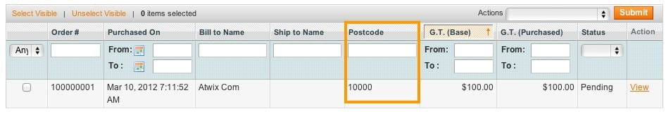 Magento orders grid - custom column