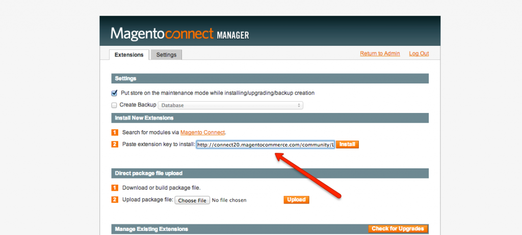 install language from magento connect