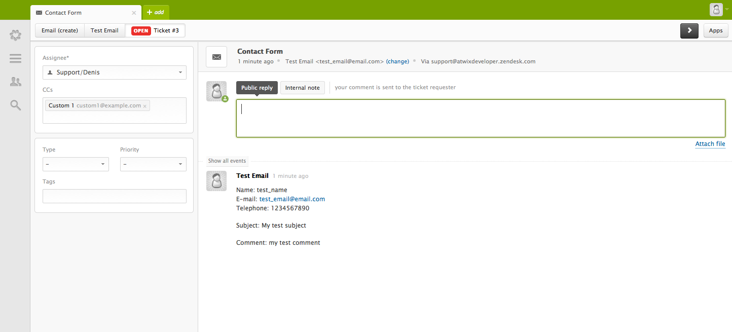 Integrating Zendesk with Magento and using custom contact