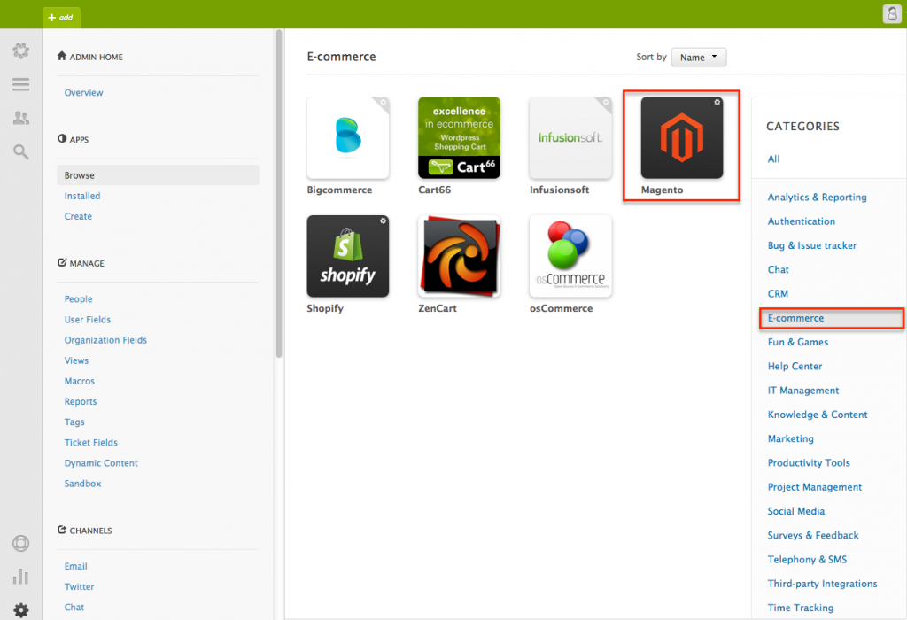 zendesk extension for work with Magento