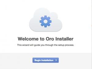 Oro Application installation 1