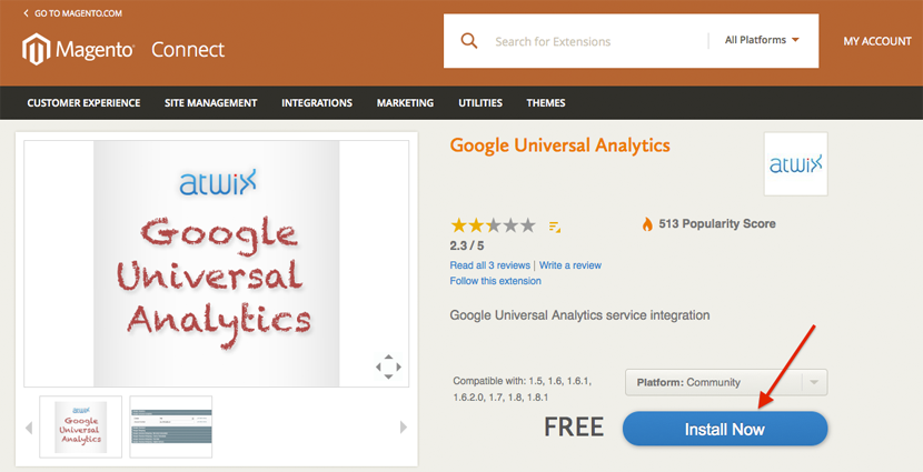 how to add google analytics code in magento