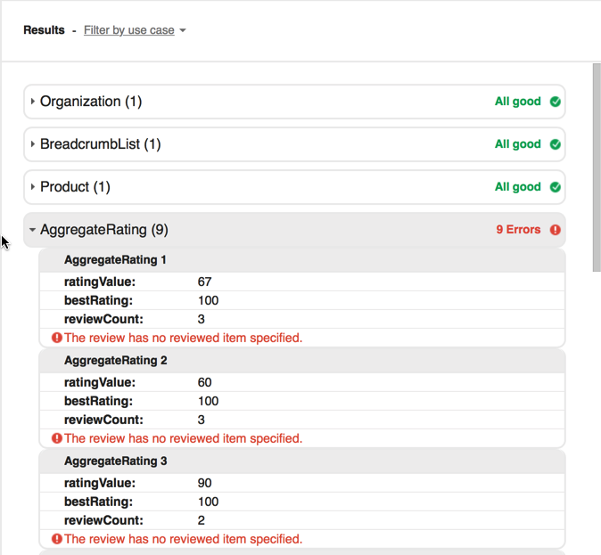 Aggregate Rating Errors in Magento2 product list mode