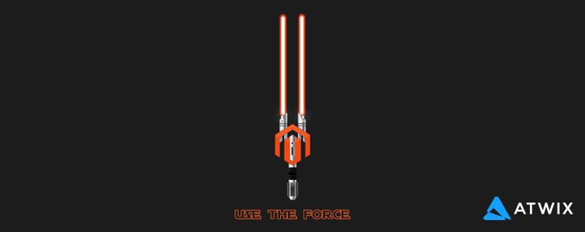 Magento 2 lightsaber wallpaper preview