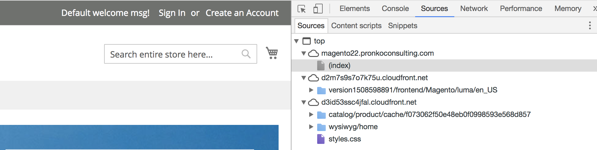 Magento 2 Frontend with AWS CloudFront domains