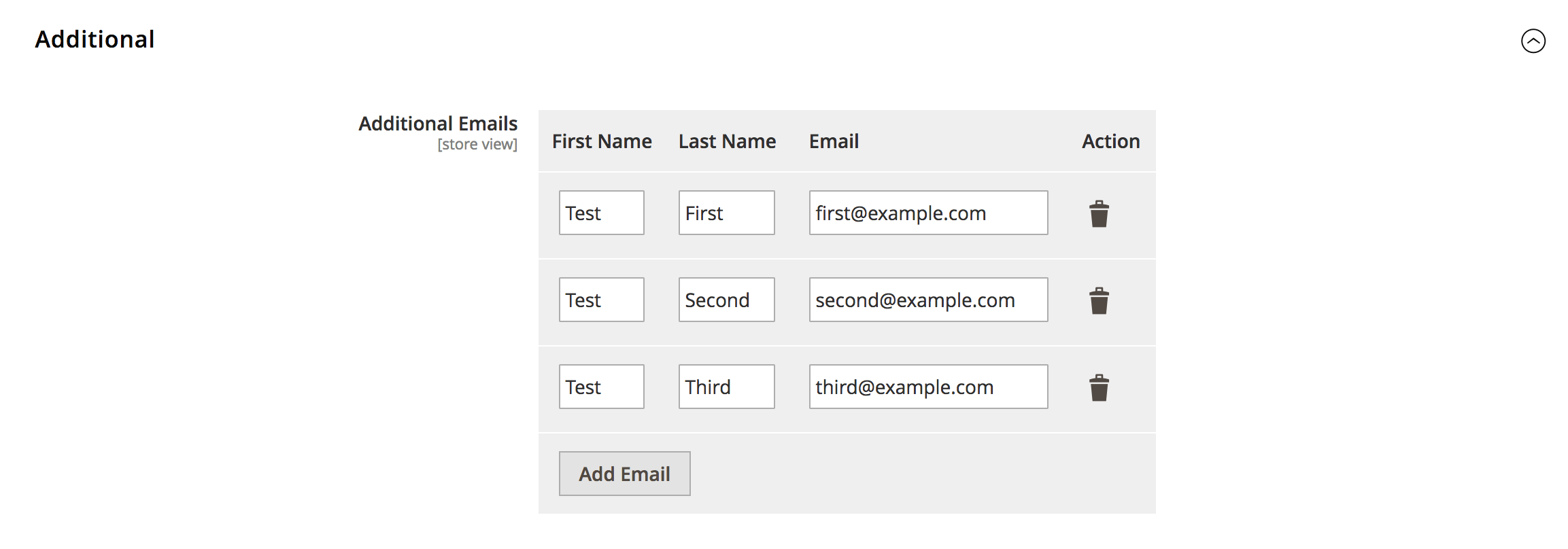 Magento 2 System Config Dynamic Fields