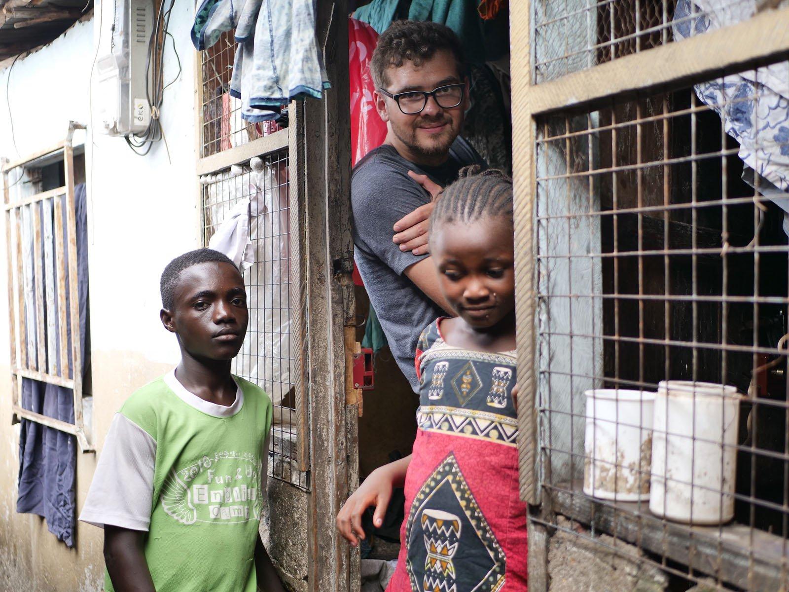 Magazine Wharf slum in Sierra Leone